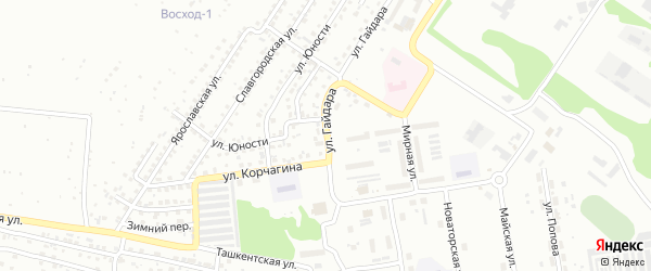 Улица Аркадия Гайдара на карте Бийска с номерами домов