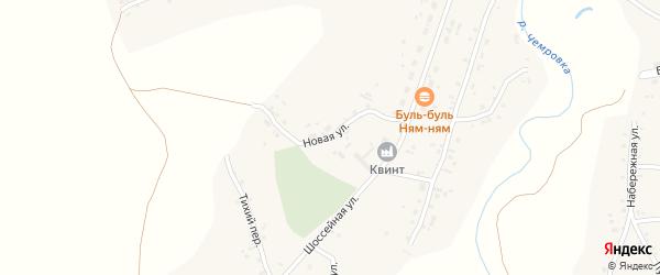 Новая улица на карте села Новой Чемровки с номерами домов