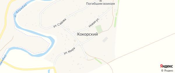 Улица ОП 93 км на карте поселка Кокорского с номерами домов