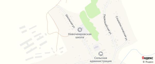 Школьная улица на карте села Новой Чемровки с номерами домов