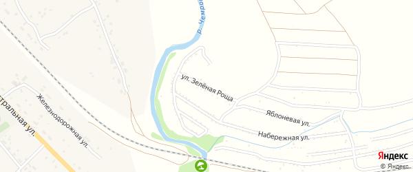 Улица Зеленая роща на карте территории сдт Железнодорожника с номерами домов