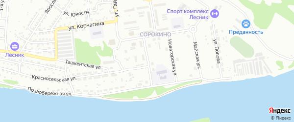 Коммунистическая улица на карте Бийска с номерами домов