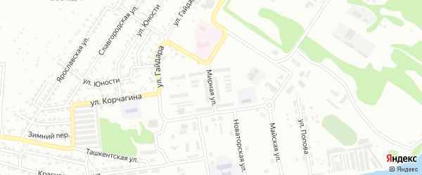 Мирная улица на карте Бийска с номерами домов