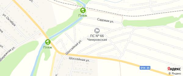 Абрикосовая улица на карте территории сдт Железнодорожника с номерами домов