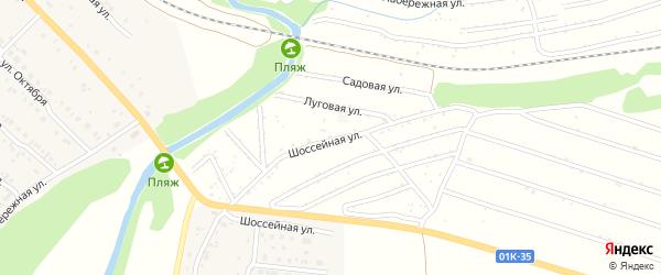 Шоссейная улица на карте территории сдт Энергетика с номерами домов