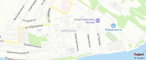 Стадионная улица на карте Бийска с номерами домов