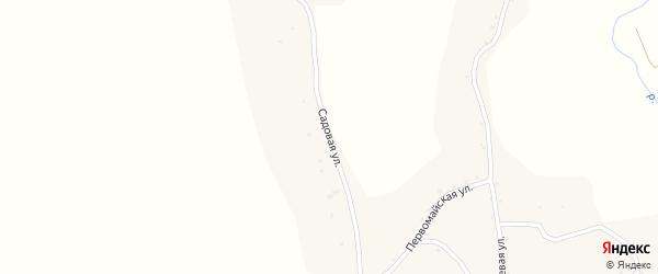 Садовая улица на карте села Новой Чемровки с номерами домов