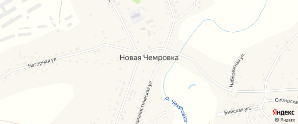 Нагорная улица на карте села Новой Чемровки с номерами домов