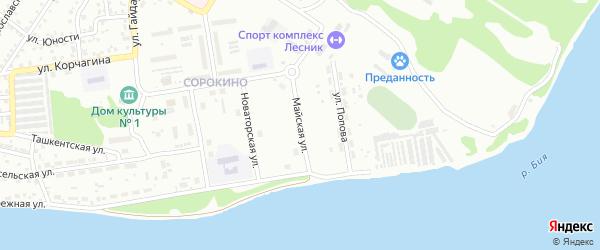 Майская улица на карте Бийска с номерами домов