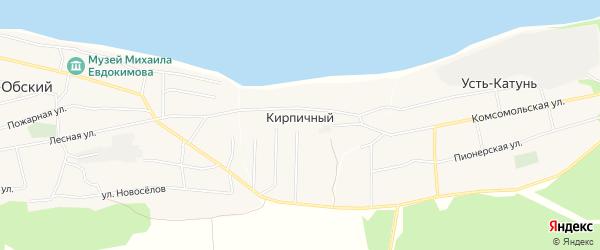 Карта Кирпичного поселка в Алтайском крае с улицами и номерами домов