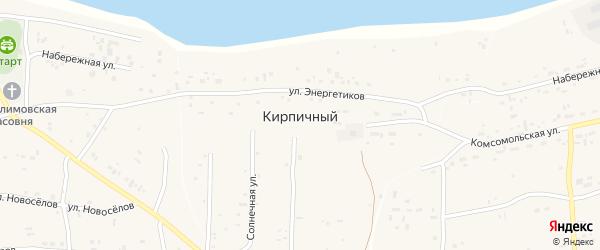 Солнечная улица на карте Кирпичного поселка с номерами домов