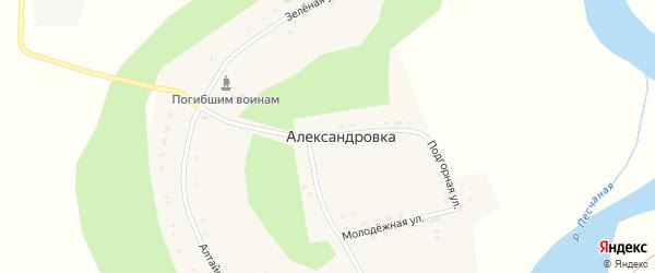 Подгорная улица на карте села Александровки с номерами домов