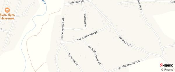 Молодежная улица на карте села Новой Чемровки с номерами домов