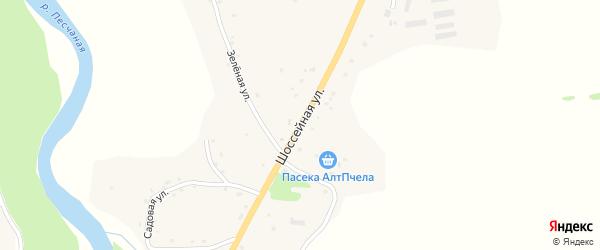 Шоссейная улица на карте Точильного села с номерами домов