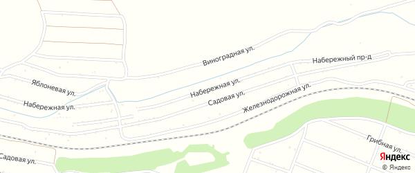 Фруктовая улица на карте территории сдт Железнодорожника с номерами домов