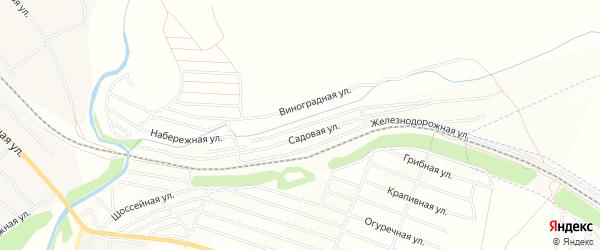 Карта территории сдт Железнодорожника в Алтайском крае с улицами и номерами домов