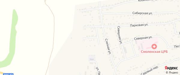 Интернациональная улица на карте Смоленского села с номерами домов