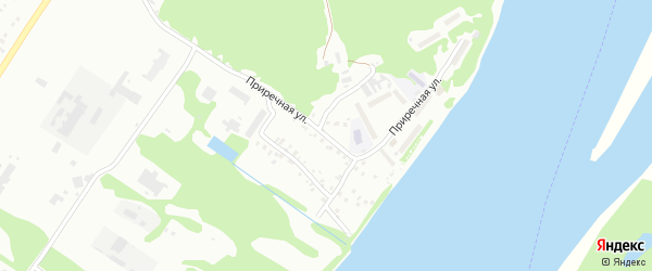 Приречная улица на карте Бийска с номерами домов
