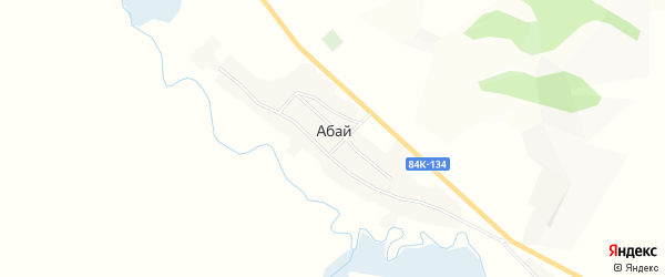 Карта села Абая в Алтае с улицами и номерами домов