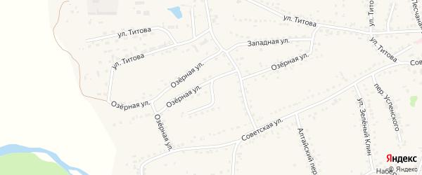Озерная улица на карте Смоленского села с номерами домов