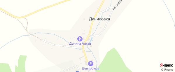 Белокурихинская улица на карте поселка Даниловки с номерами домов