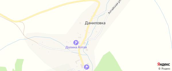 Лесная улица на карте поселка Даниловки с номерами домов