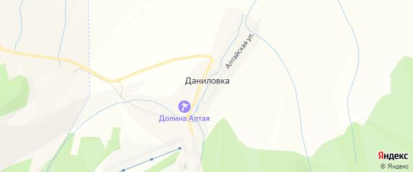 Карта поселка Даниловки в Алтайском крае с улицами и номерами домов
