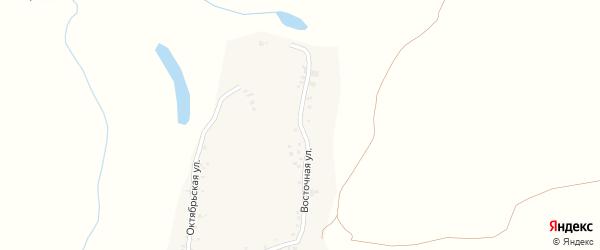 Восточная улица на карте села Новой Чемровки с номерами домов
