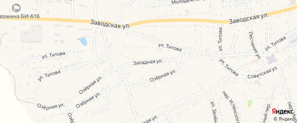 Западная улица на карте Смоленского села с номерами домов