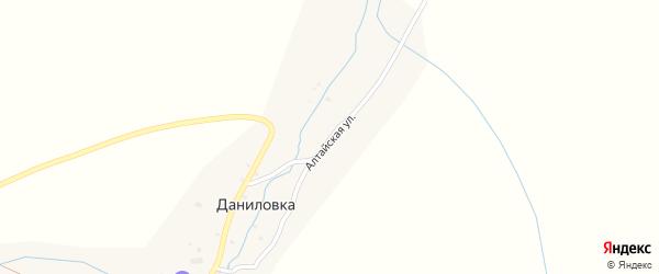 Алтайская улица на карте поселка Даниловки с номерами домов