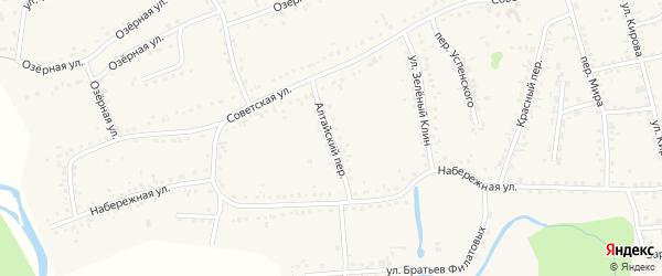Алтайский переулок на карте Смоленского села с номерами домов
