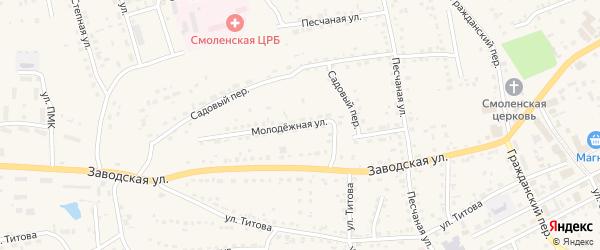 Молодежная улица на карте Смоленского села с номерами домов