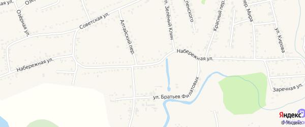 Набережная улица на карте Смоленского села с номерами домов