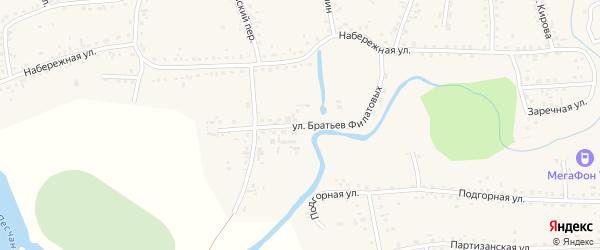 Улица Братьев Филатовых на карте Смоленского села с номерами домов