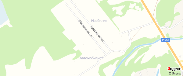 Земляничная улица на карте территории сдт Автомобилиста с номерами домов