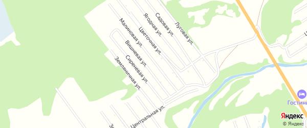 Сиреневая улица на карте территории сдт Автомобилиста с номерами домов