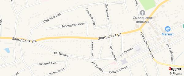 Улица Титова на карте Смоленского села с номерами домов