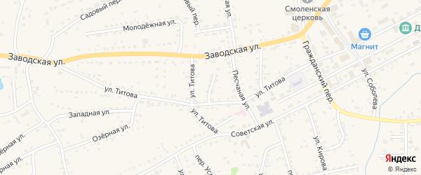 Новый переулок на карте Смоленского села с номерами домов