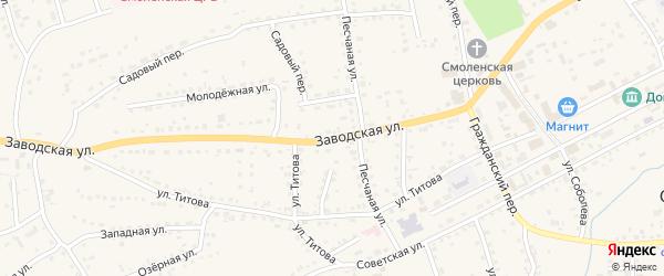 Заводская улица на карте Смоленского села с номерами домов
