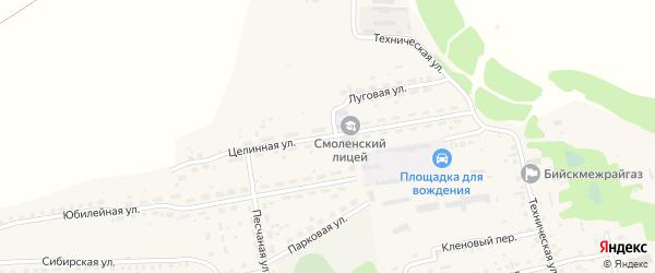 Целинная улица на карте Смоленского села с номерами домов