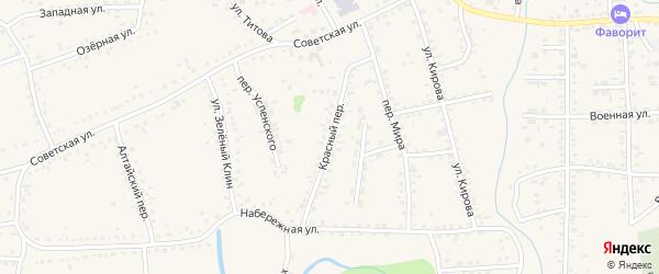 Красный переулок на карте Смоленского села с номерами домов