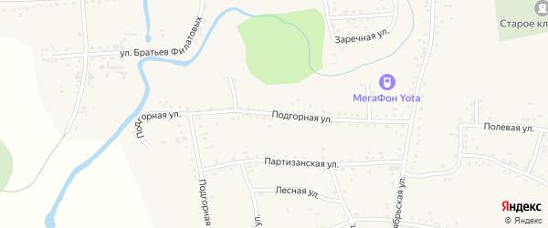 Подгорная улица на карте Смоленского села с номерами домов