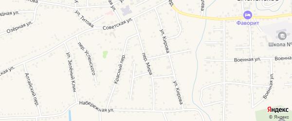 Переулок Мира на карте Смоленского села с номерами домов