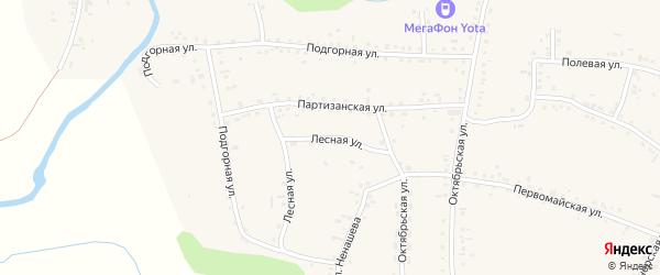 Лесная улица на карте Смоленского села с номерами домов