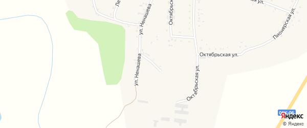 Улица Ненашева на карте Смоленского села с номерами домов