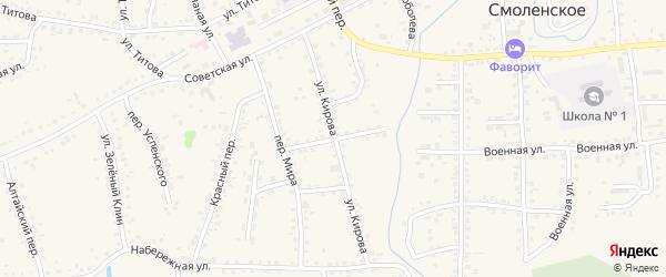 Улица Горького на карте Смоленского села с номерами домов