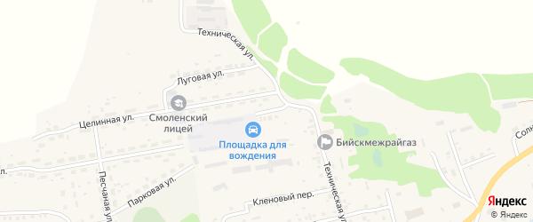 Техническая улица на карте Смоленского села с номерами домов