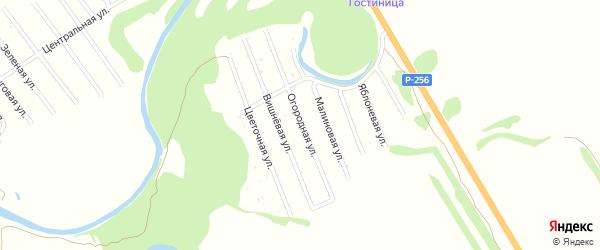 Яблоневая улица на карте территории сдт Труженика с номерами домов