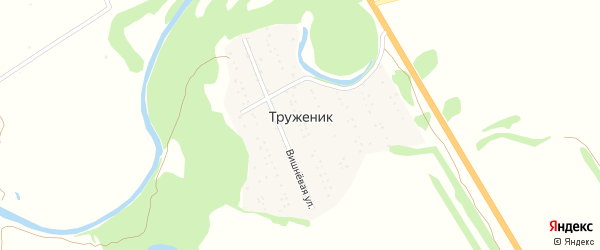 Крайняя улица на карте территории сдт Труженика с номерами домов