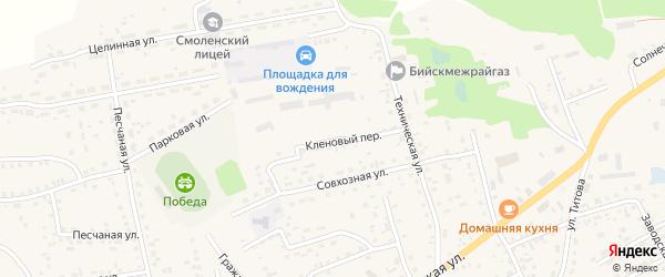 Кленовый переулок на карте Смоленского села с номерами домов